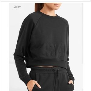 Embossed JUST DO IT Crop Sweater